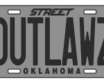 street outlaws license plate